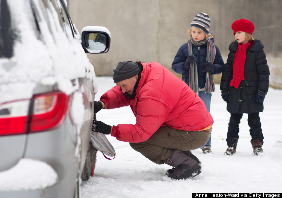 car breakdown snow