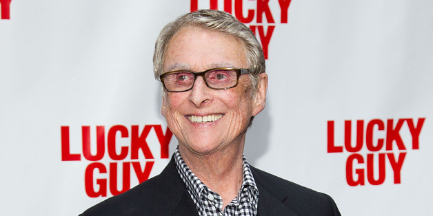"""FILE - This April 1, 2013 file photo shows director Mike Nichols at the """"Lucky Guy"""" opening night in New York. Nichols is getting his hands dirty in Harold Pinter's """"Betrayal,"""" a play about a love triangle and the pain of loss that stars real-life couple Rachel Weisz and Daniel Craig. Previews start Oct. 1 and opening night is Oct. 27 at the Barrymore Theatre in New York. (Photo by Dario Cantatore/Invision/AP, File)"""