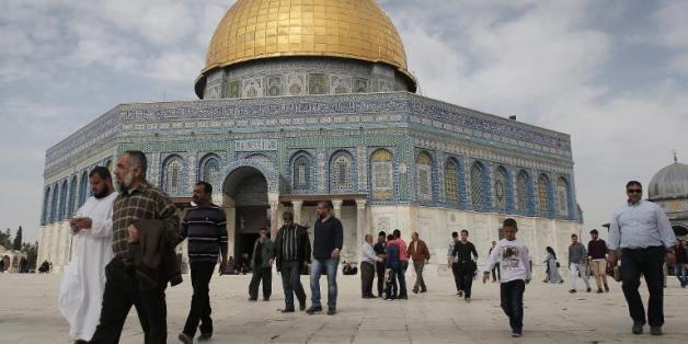 Le Dôme du Rocher situé sur l'esplanade des Mosquées à Jérusalem, le 14 novembre 2014