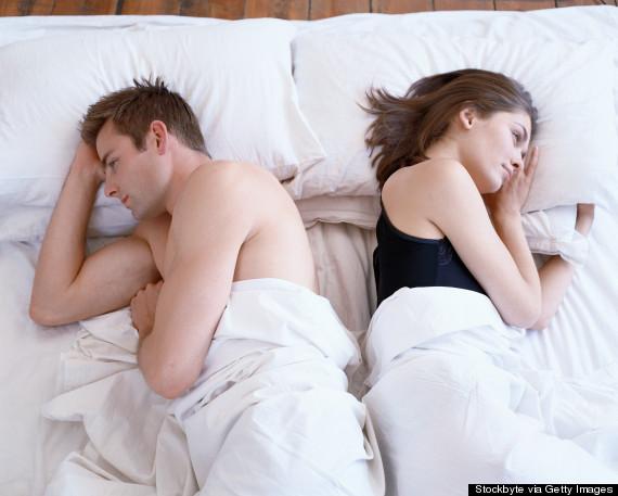 unhappy couple bedroom