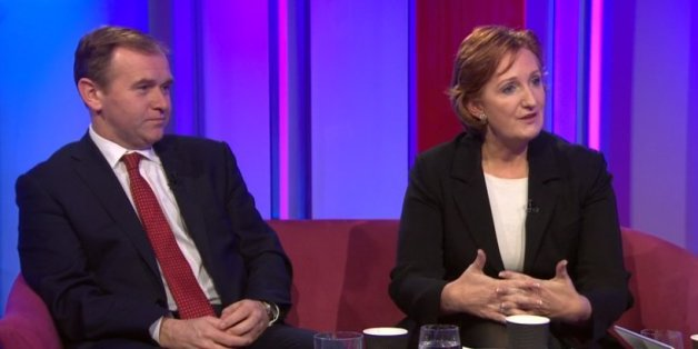 Suzanne Evans (left) with Tory MP George Eustice on the BBC