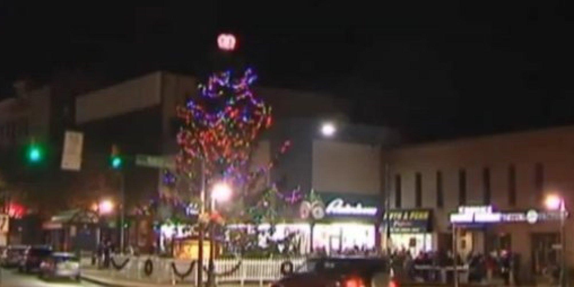 ugly christmas tree ruins pennsylvania towns holiday spirit huffpost