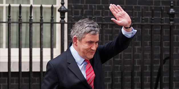 Leader of Britain's ruling Labour Party, Gordon Brown, waves as he walks to his car after announcing his resignation as Prime Minister, in Downing Street in central London on May 11, 2010.  British Prime Minister Gordon Brown tendered his resignation Tuesday to Queen Elizabeth II, making way for a new power-sharing government led by Conservative leader David Cameron to be formed.    AFP PHOTO/Leon Neal (Photo credit should read LEON NEAL/AFP/Getty Images)
