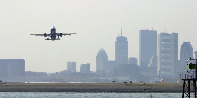 The incident occurred at Boston Logan Airport on Saturday (file picture)