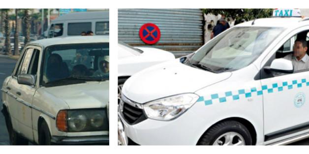 Grands taxis marocains avant et après