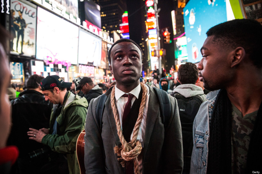 times square ferguson protests