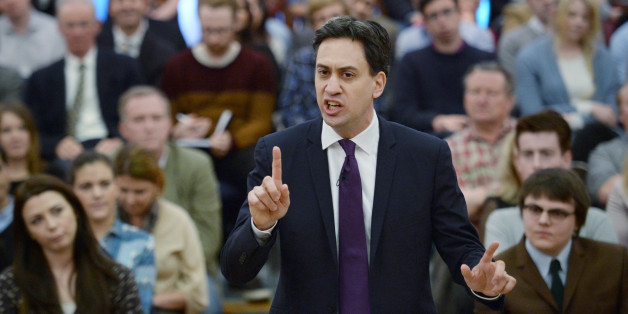 Labour leader Ed Miliband during his speech to party supporters at the University of London today.