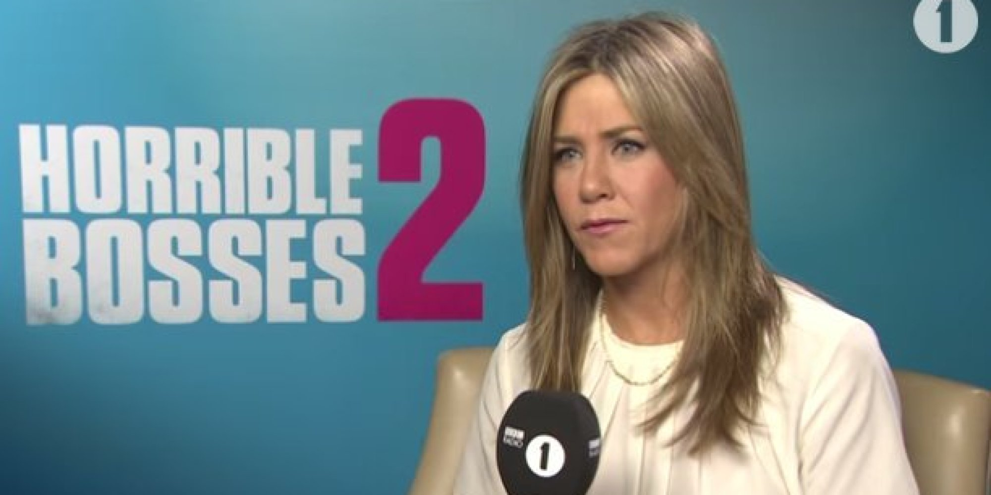 Jennifer Aniston Gives Awkward Interviewer A Taste Of His