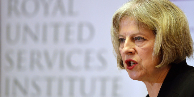 Home Secretary Theresa May speaks during the counter-terrorism awareness week conference at the Royal United Services Institute in Westminster, London.