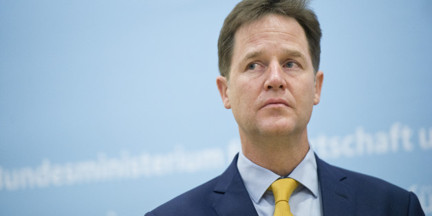 BERLIN, GERMANY -  NOVEMBER 26:  British Deputy Prime Minister Nick Clegg attends a press statement in German Ministry of Economy on November 26, 2014 in Berlin, Germany. (Photo by Michael Gottschalk/Photothek via Getty Images)