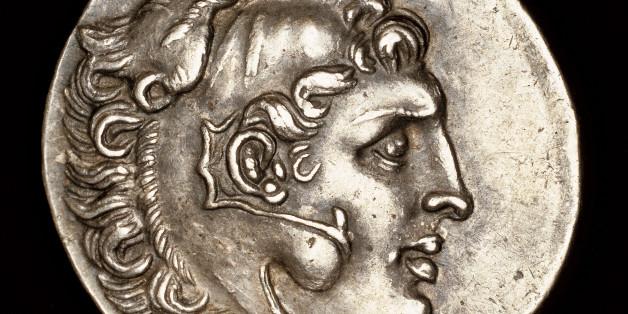Σπάνιο Νόμισμα που χρονολογείται στο 200 π.Χ. και δείχνει το Mέγα Αλέξανδρο να φοράει λεοντή