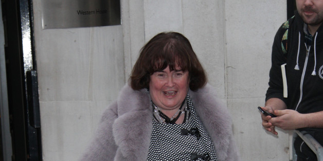 LONDON, ENGLAND - NOVEMBER 16:  Susan Boyle sighting at the BBC radio two studio on November 16, 2014 in London, England.  (Photo by Simon James/GC Images)