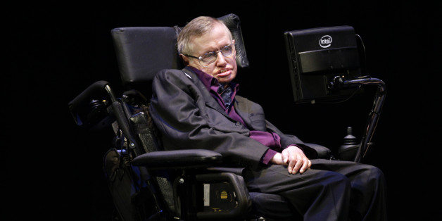 Physicist and best-selling author Stephen Hawking appears in Seattle, Saturday, June 16, 2012. Hawking was taking part in the Seattle Science Festival Luminaries Series. (AP Photo/Ted S. Warren)