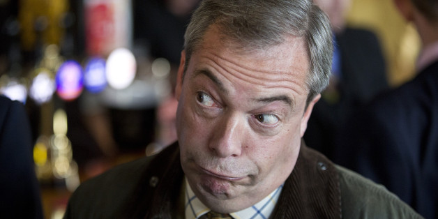 UKIP leader Nigel Farage speaks to the media at The Nag Heads, Stoke, on the day of Rochester and Strood by-election.