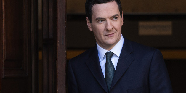 George Osborne, U.K. chancellor of the exchequer, leaves the HM Treasury building before heading to the Houses of Parliament to deliver his Autumn statement in London, U.K., on Wednesday, Dec. 3, 2014. Osborne will present his end-of-year outlook to Parliament today -- his last Autumn Statement before next year's general election. Photographer: Simon Dawson/Bloomberg via Getty Images