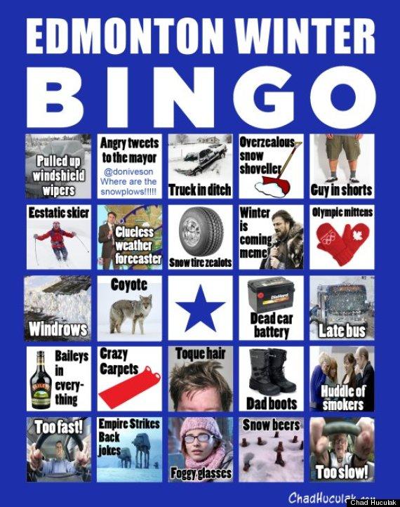 edmonton winter bingo