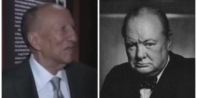 Hassan El Glaoui et Winston Churchill