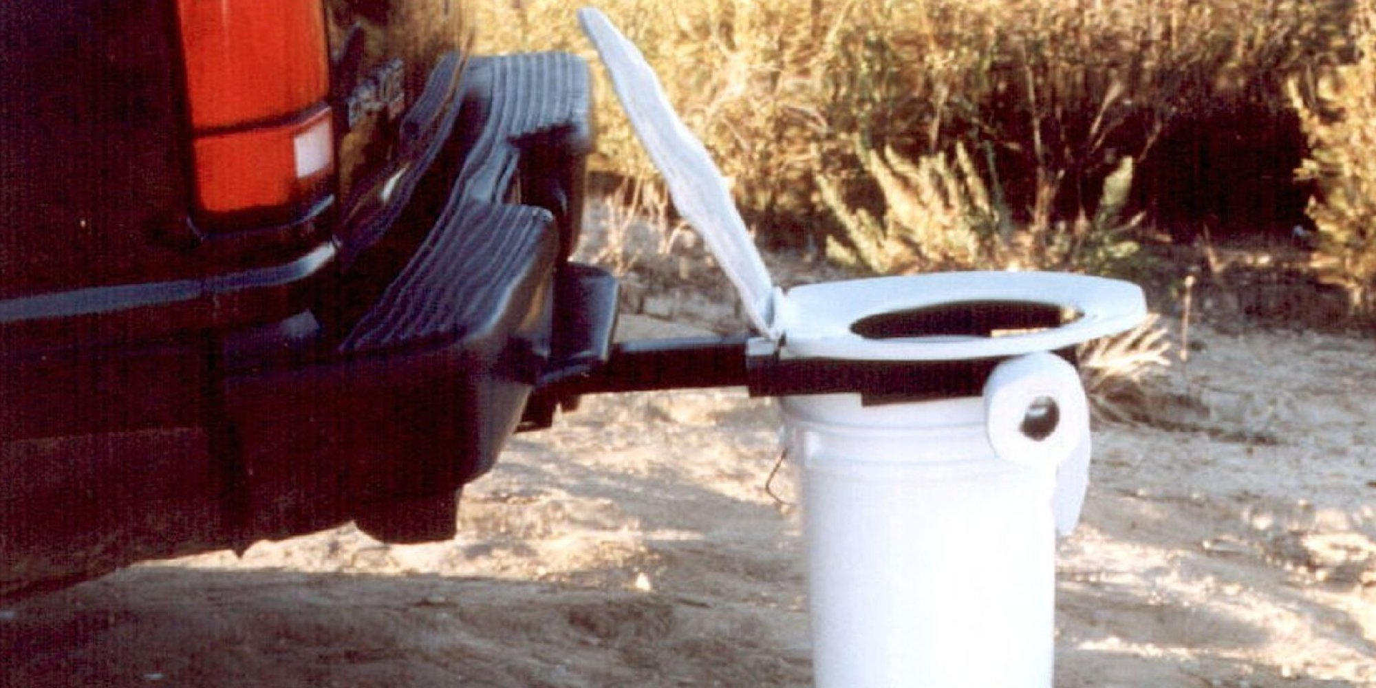 Bumper Dumper Toilet Helps People Go While On The