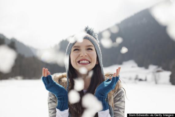 happy in winter