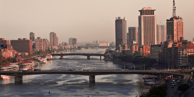 A view of Cairo and the River Nile