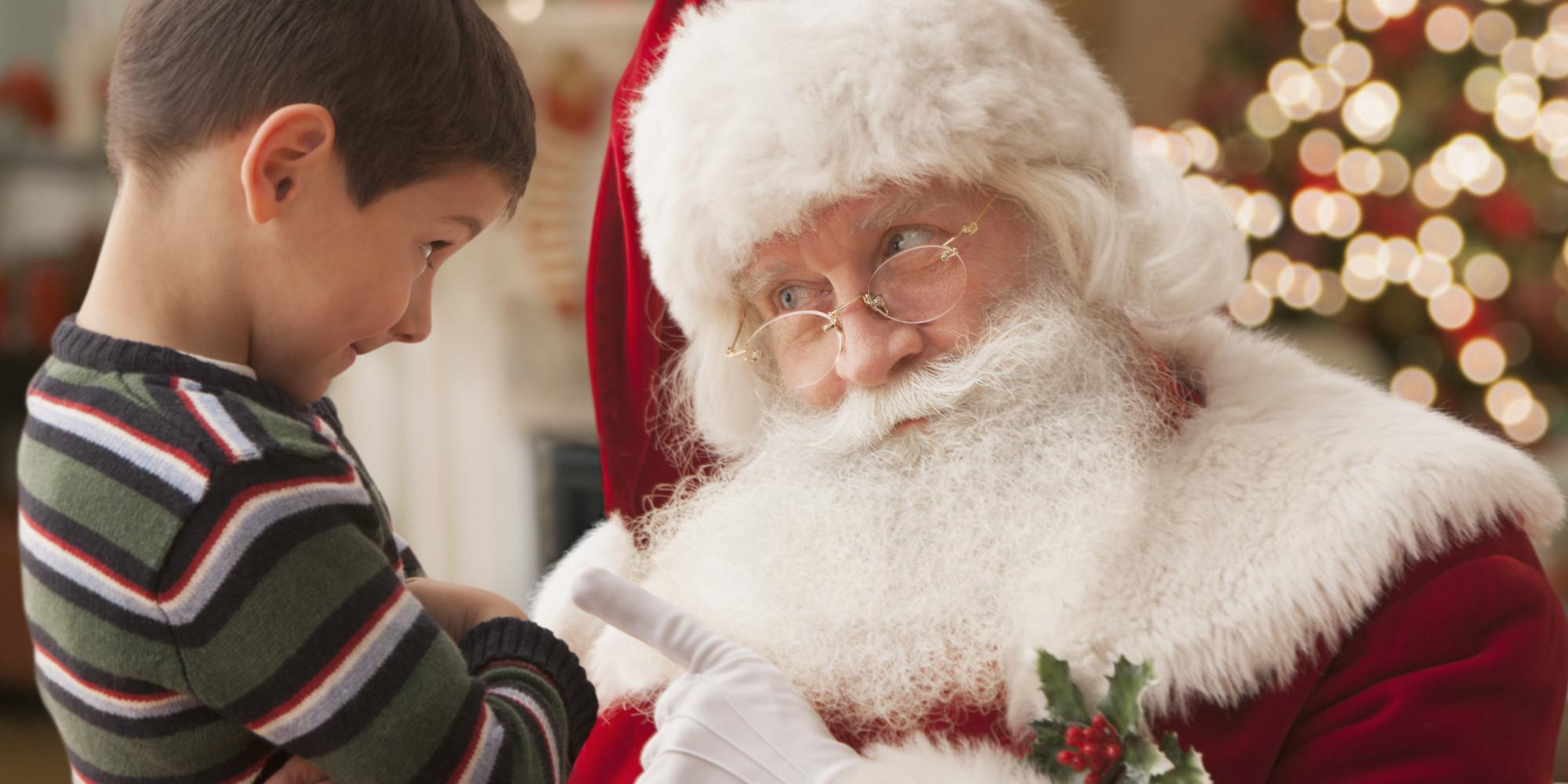 11 santa spoilers in movies and books huffpost - Santa And Kids