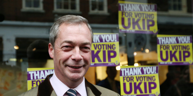 ROCHESTER, ENGLAND - NOVEMBER 21:  United Kingdom Independence Party (UKIP) leader Nigel Farage poses for photographs outside the UKIP office on November 21, 2014 in Rochester, England.  UKIP now has a second elected MP at Westminster after Mark Reckless won the Rochester and Strood by-election.  (Photo by Carl Court/Getty Images)