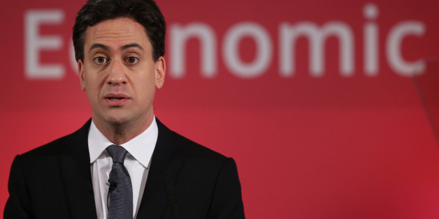 LONDON, ENGLAND - DECEMBER 11:  Labour Party leader Ed Miliband speaks to business leaders on December 11, 2014 in London, England. Mr Miliband is setting out the Labour party's future spending plans ahead of the 2015 parliamentary elections.  (Photo by Peter Macdiarmid/Getty Images)