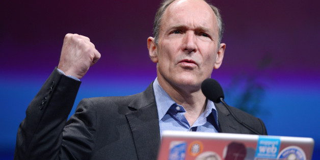 British computer scientist Tim Berners-Lee, the man credited with inventing the world wide web, gives a speech on April 18, 2012 in Lyon, central France, during the World Wide Web 2012 international conference on April 18, 2012 in Lyon.                                                              AFP PHOTO/PHILIPPE DESMAZES        (Photo credit should read PHILIPPE DESMAZES/AFP/GettyImages)