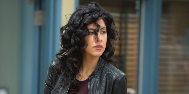 BROOKLYN NINE-NINE -- 'Operation Broken Feather' Episode 116 -- Pictured: Stephanie Beatriz as Rosa Diaz -- (Photo by: Eddy Chen/NBC/NBCU Photo Bank via Getty Images)