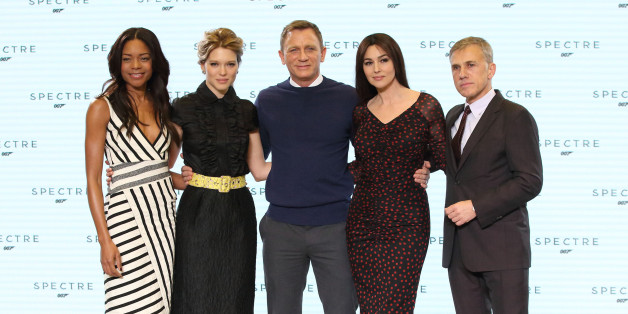 IVER HEATH, ENGLAND - DECEMBER 04:  Naomie Harris, Lea Seydoux, Daniel Craig, Monica Bellucci and Christoph Waltz attend a photocall for the new James Bond film Spectre at Pinewood Studios on December 4, 2014 in Iver Heath, England.  (Photo by Mike Marsland/WireImage)