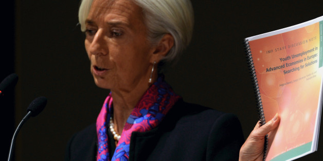 MILAN, ITALY - DECEMBER 09:  Christine Lagarde, managing director of International Monetary Fund (IMF) gives a speech at Bocconi University's opening of the 2014/2015 academic year on December 9, 2014 in Milan, Italy.  (Photo by Pier Marco Tacca/Getty Images)