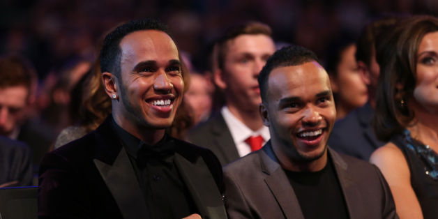 Lewis Hamilton with brother Nic during the 2014 Sports Personality of the Year Awards at the SSE Hydro, Glasgow.