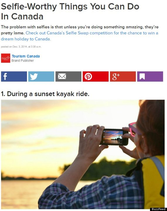 do not use buzzfeed tourism canada