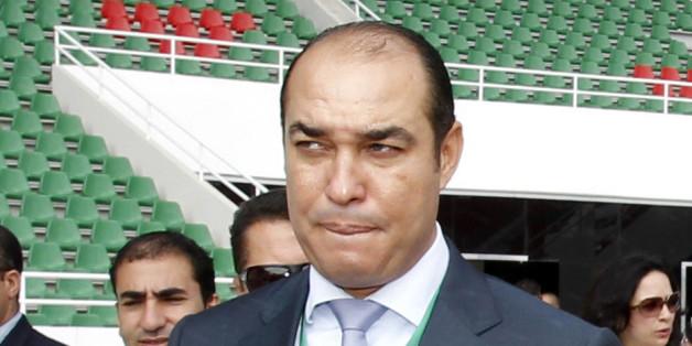 Le ministre de la Jeunesse et des Sports, Mohamed Ouzzine, mardi (30/09/14) à Rabat, lors de la réouverture du complexe sportif Prince Moulay Abdellah.