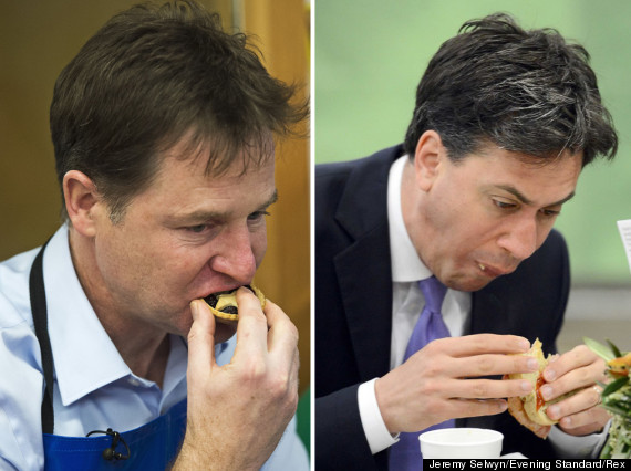 clegg miliband eating