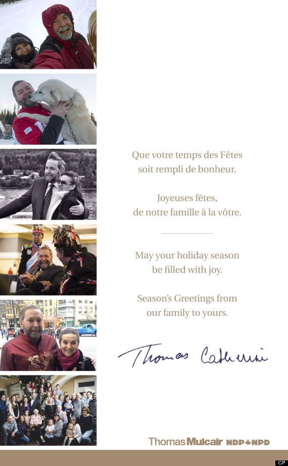 thomas mulcair christmas card