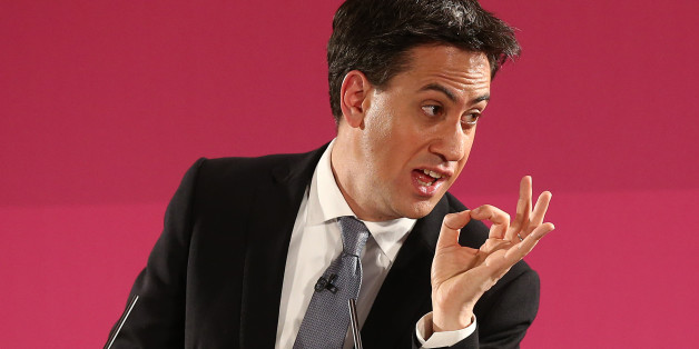 GREAT YARMOUTH, ENGLAND - DECEMBER 15:  Labour party leader Ed Miliband gestures during a speech on December 15, 2014 in Great Yarmouth, England. Miliband set out plans to stop cheap foreign workers replacing British staff, stating that a Labour government would pass a law to criminalise such behaviour.  (Photo by Carl Court/Getty Images)