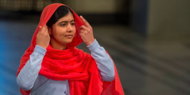 OSLO, NORWAY - DECEMBER 10: Malala Yousafzai. delivers her acceptance speech to the audience during the Nobel Peace Prize Award ceremony at  Oslo City Town on December 10, 2014 in Oslo, Norway. (Photo by Nigel Waldron/Getty Images)
