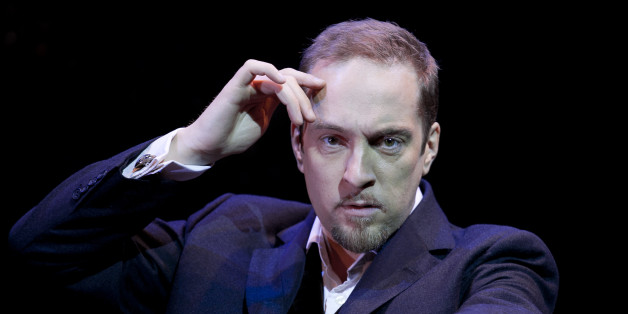 Derren Brown Stars In His New Show Svengali At The Shaftesbury Theatre In London. (Photo by John Phillips/UK Press via Getty Images)