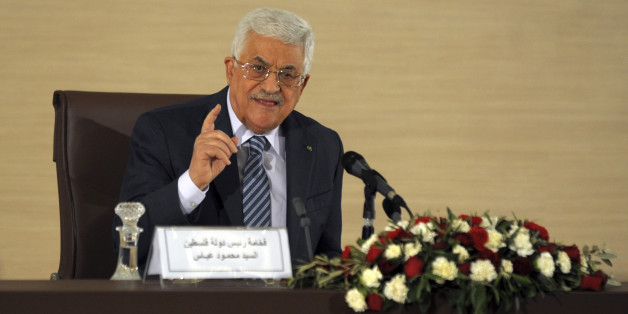 Palestinian President Mahmoud Abbas, delivers a press conference during a visit to the Algerian Foreign Affairs Ministry in Algiers, Tuesday, Dec. 23, 2014. Abbas is in Algeria for a three-day state visit. ( AP Photo/Sidali Djarboub)
