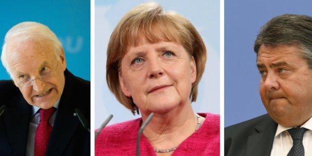 Edmund Stoiber, Angela Merkel, Sigmar Gabriel