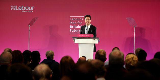 "Labour leader Ed Miliband gives a speech at the Lowry complex at Salford Quays in Greater Manchester, where he claimed he will lead a ""crusade to change the country"" as the election campaign began in earnest with the two main parties trading blows on the state of the public finances."
