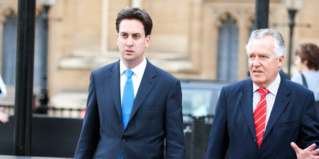 LONDON, UNITED KINGDOM - JUNE 09: Ed Miliband (L) and Peter Hain walk outside the Houses of Parliament on June 09, 2010 in London, England. The younger Miliband brother is fighting his way to the top of the Labour Party against his brother David, Ed Balls, Andy Burnham and Diane Abbott. (Photo by Barcroft Media / Getty Images)