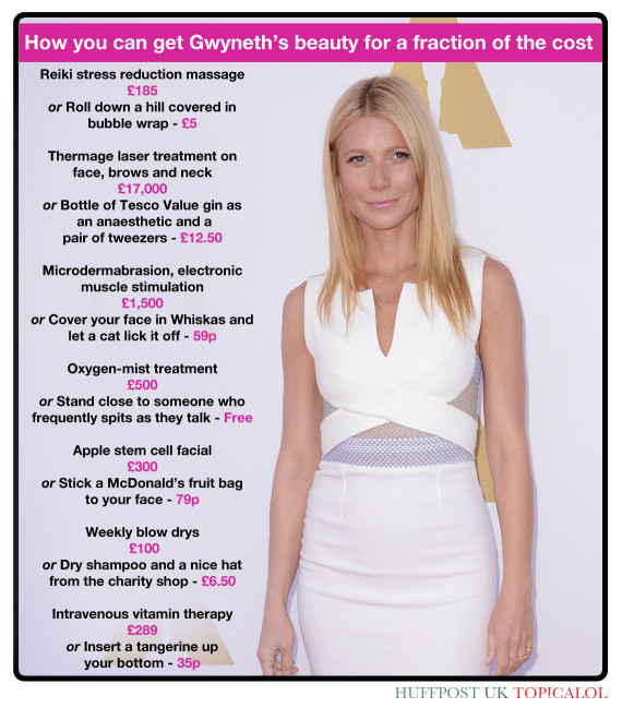 gwyneth paltrow beauty spoof