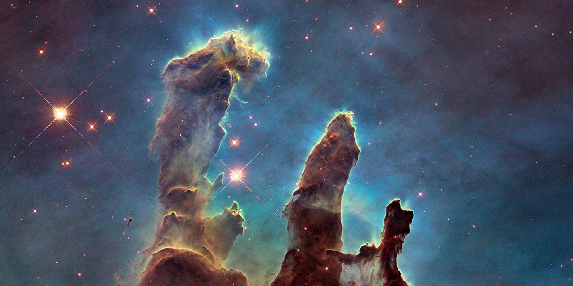Gorgeous 'Pillars Of Creation' Shine In New Hi-Def Hubble ...