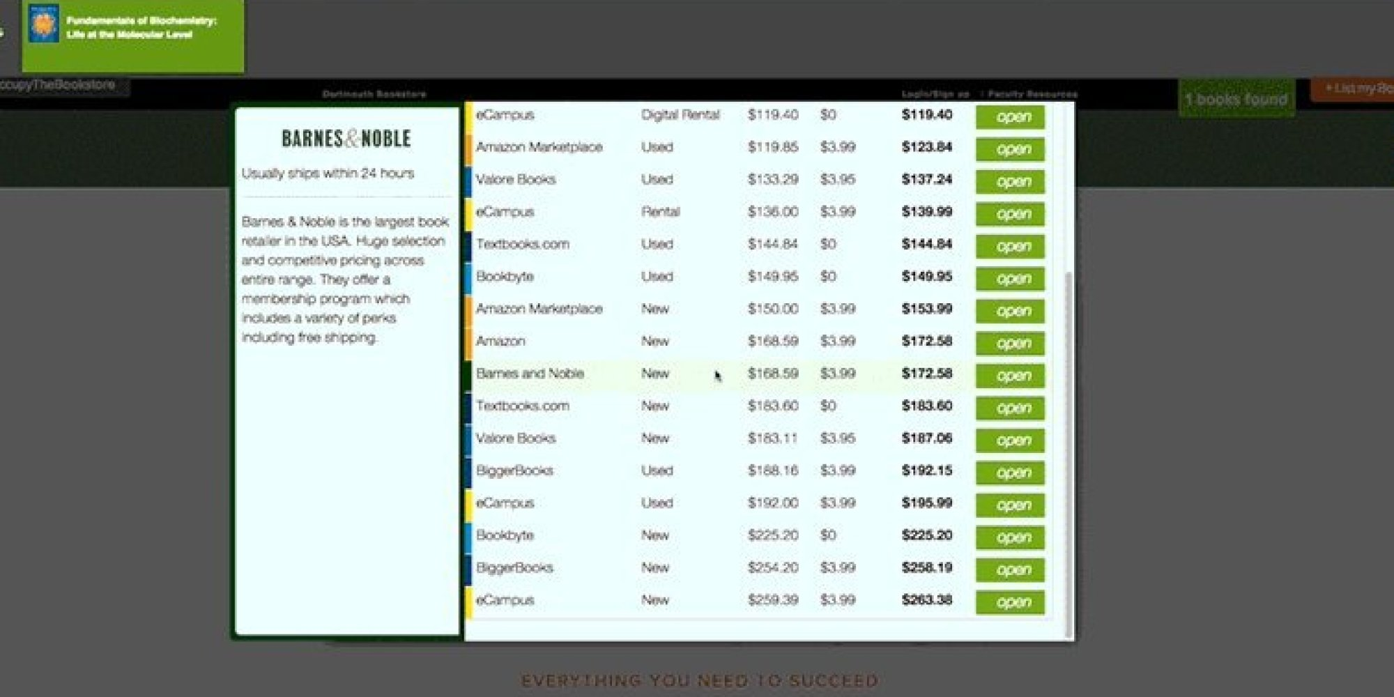 occupy the bookstore a chrome plugin for finding cheaper textbooks