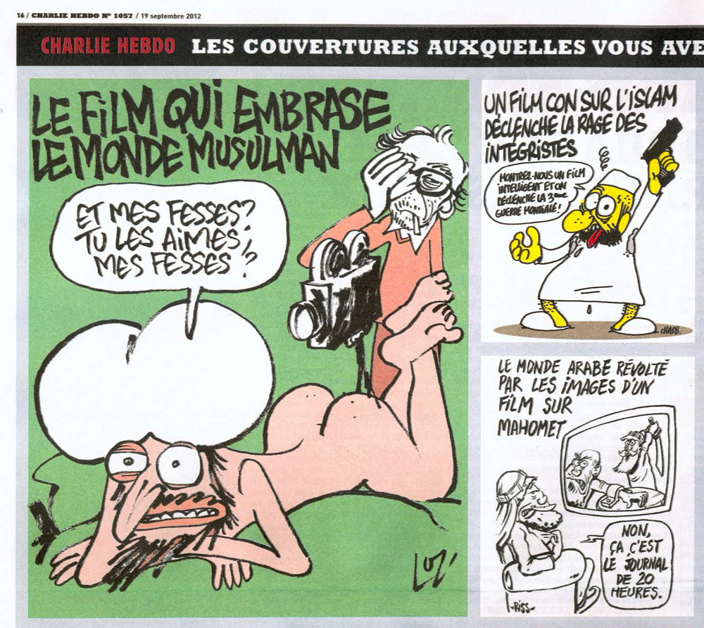 charlie hebdo caricatures