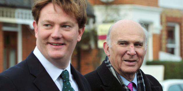 Chief Secretary to the Treasury Danny Alexander (left) and Business Secretary Vince Cable as the Liberal Democrats campaign in Hornsey, north London.