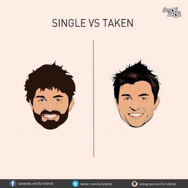 7 imgenes que ilustran las diferencias entre hombres solteros y con pareja - Hombres Solteros