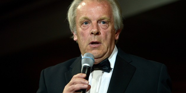 PFA Chief Executive Gordon Taylor makes a speech during the PFA Player of the Year Awards 2014, at the Grosvenor House Hotel. London.